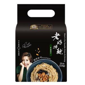 老媽伴麺 ネギ 干しエビ味 インスタントまぜ麺 4パック入り ベジタリアン【laoma】【台湾直送】