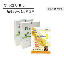 グルコサミン 貼るハーバルアロマ (5枚×20パック) アロマシール リラックス【nimei】【台湾直送】