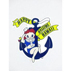 【激安・ポッキリセール】♪Happy Haleiwa♪ハッピーハレイワ♪ステッカー・シール・ハッピー×イカリ【返品交換不可】