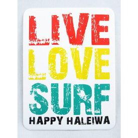 【激安・ポッキリセール】♪Happy Haleiwa♪ハッピーハレイワ♪ステッカー・シール・LIVE LOVE SURF【返品交換不可】
