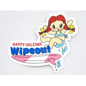 【激安・ポッキリセール】♪Happy Haleiwa♪ハッピーハレイワ♪ステッカー・シール・Wipeoutサーフボード ピンクホワイト【返品交換不可】