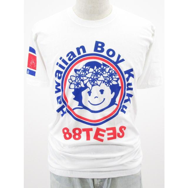 88TEES(エイティエイティーズ)メンズ・Tシャツ・ホワイト×ククサークルサイズ:M