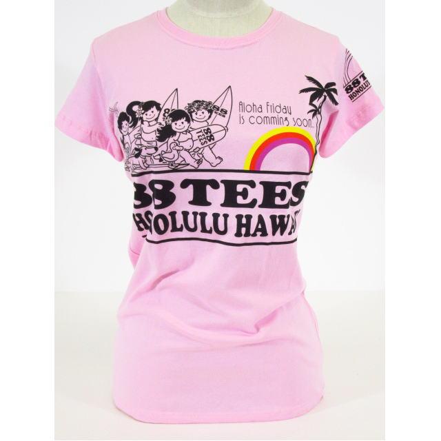 88TEES(エイティーエイティーズ)レディース・Tシャツピンク×88ファミリーサイズ:M