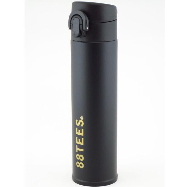 88TEES (エイティエイティーズ)ステンレスボトル・ワンタッチボトル水筒・ブラック×88ロゴ