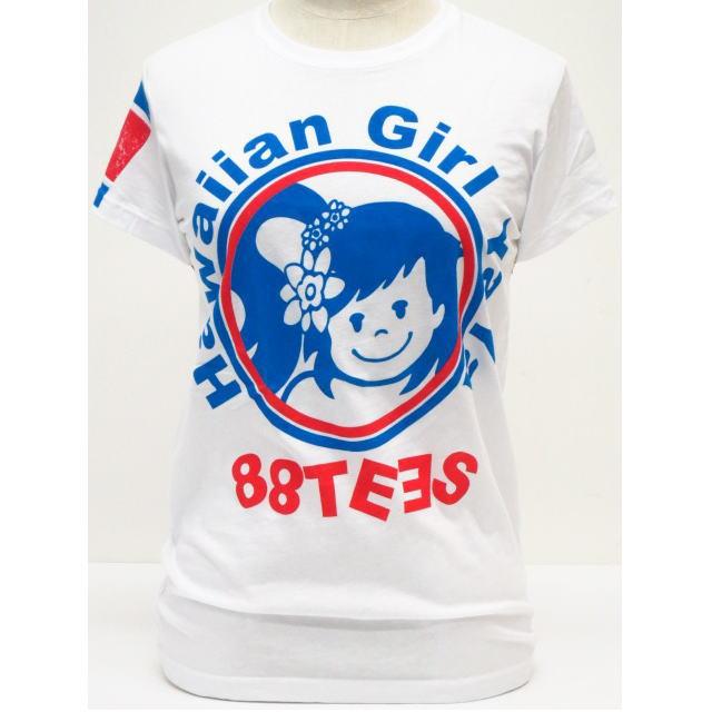 88TEES(エイティエイティーズ)レディース・Tシャツホワイト×ヤヤサークルサイズ:M・L