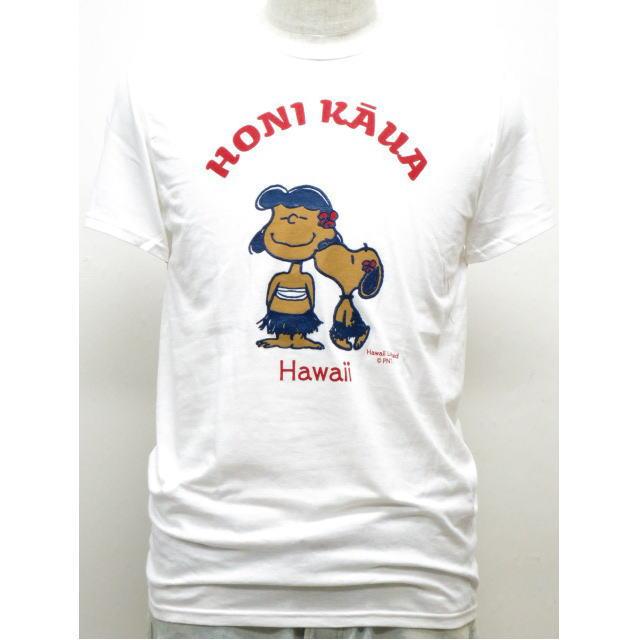 Moni Honolulu モニホノルル【ハワイ限定・Hawaii直輸入】日焼けスヌーピー・メンズTシャツHONIKAUAサイズ:S-L