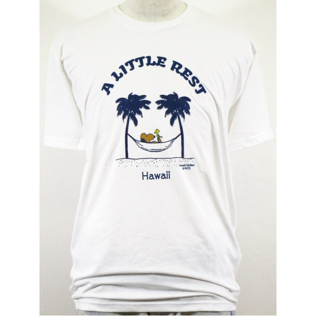 Moni Honolulu モニホノルル【ハワイ限定・Hawaii直輸入】日焼けスヌーピー・メンズTシャツA LITTLE RESTサイズ:S-L