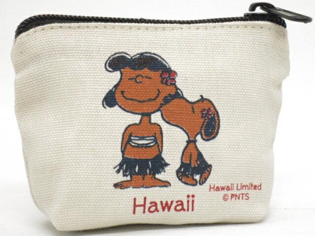 Moni Honolulu モニホノルル【ハワイ限定・Hawaii直輸入】日焼けスヌーピー ポーチ・小銭入れHONI KAUA×ナチュラル×ブラック