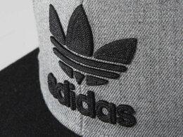 adidasOriginalsアディダスオリジナルス【キャップ】【帽子】【海外限定】【即日発送】MORITREFOILCHAINSNAPBACKCAPTREFOIL・HEATHERGREY/BLACK