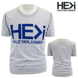 HE>i【ヒー・グレイター・ザン・アイ】【HEGREATERTHANI】【HALEIWA・ハレイワ】【Hawaii発】【ヒーグレイターザンアイ】・Tシャツ・MTSHALEIWALOGO・サイズS〜L・GRAY・グレー・メンズ