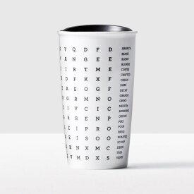 STARBUCKS スターバックス【USA限定・ハワイ直輸入】Word Search Double Wall Travelerタンブラー・セラミック・Tall・12floz/355ml