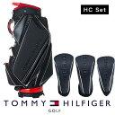 【ネームプレート刻印無料】キャディバッグ ヘッドカバーセット ゴルフバッグ メンズ レディース トミー ヒルフィガー…