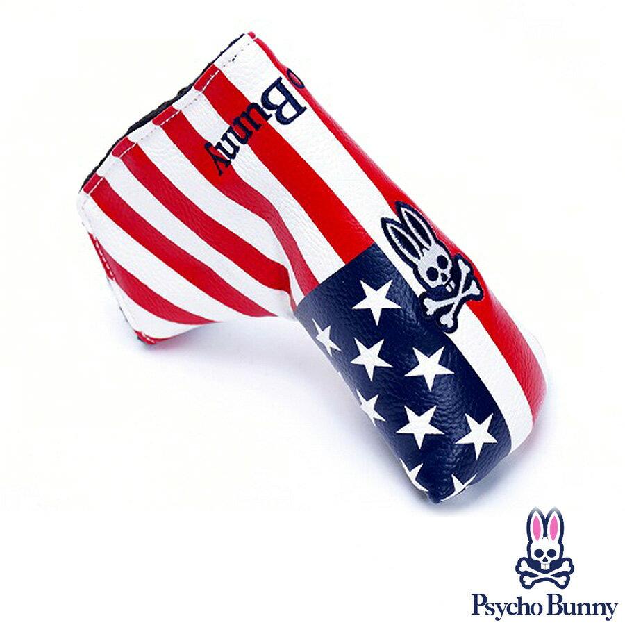 【全商品ポイント10倍】サイコバニー ヘッドカバー クラブカバー ケース ネイビー PBMG6SH6 A/A FLAG パターカバー(ブレード型)
