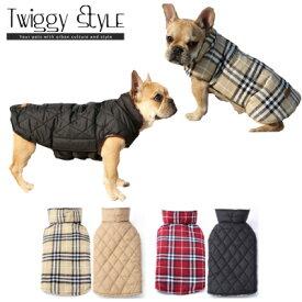 【送料無料!犬服・ドッグウェア・秋・冬・シンプル・暖かい・プチプラ・中型犬・大型犬・犬用コート】 チェック柄リバーシブルコート