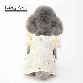 【アウトレットセール】犬 犬服 ドッグウェア 春 夏 春服 夏服 可愛い おしゃれ 犬用ワンピース ドレス スカート さくらんぼ柄ノースリーブフリルワンピース