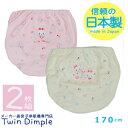 【新商品】【日本製】【メール便OK】バックプリントショーツ(うさぎ柄) 2枚組 170 日本製ジュニアパンツ女の子