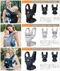 ★Four major; is with benefits! Newborn baby correspondence with the エルゴ cuddle string Japanese regular article adapt ADAPT cool air mesh black gray Deep Blue baby waist belt
