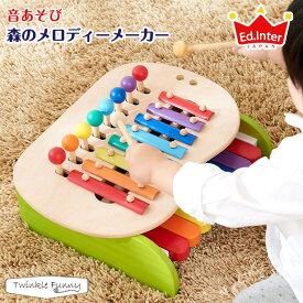 エドインター 森のメロディーメーカー 木製玩具 知育玩具 天然木