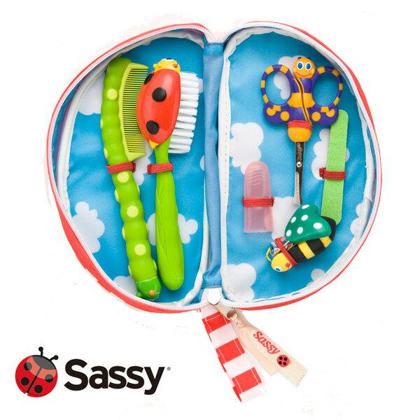 【Sassy サッシー】ベビーケアセット【つめ切り】【コーム】【あす楽】【対象年令:0ヶ月〜】