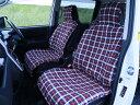 車 シートカバー 大人気! 赤チェック柄 自動車 フロント席2枚セット 簡単装着!