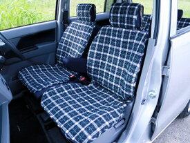 車 シートカバー グリーンチェック柄 普通自動車 汎用シートカバー フロント席2枚セット 前席 フリーサイズ