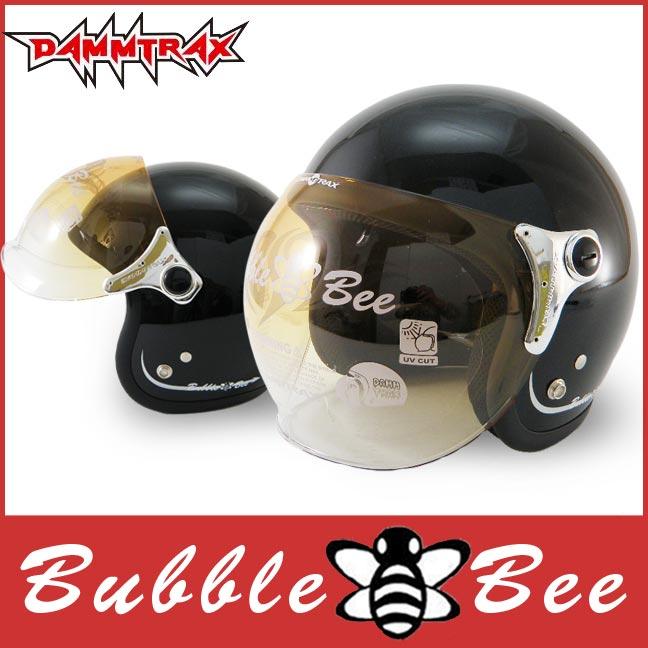 送料無料 ジェット ヘルメット ダムトラックス バブルビー (DAMMTRAX BUBBLE BEE) 全5色