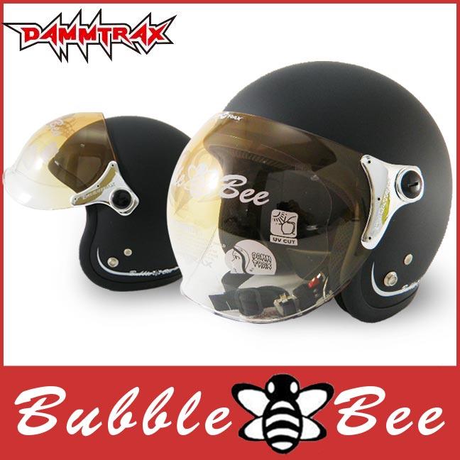 ★ジェットヘルメット上位ランキング獲得商品★ 送料無料 ジェット ヘルメット ダムトラックス バブルビー (DAMMTRAX BUBBLE BEE) 全5色