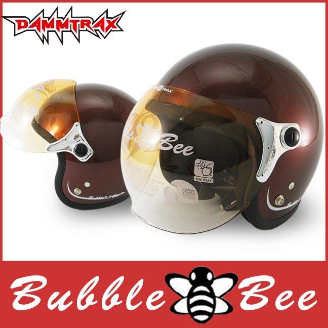 ★ジェットヘルメット上位ランキング獲得商品★ 送料無料 ジェット ヘルメット ダムトラックス バブルビー (DAMMTRAX BUBBLE BEE)全5色