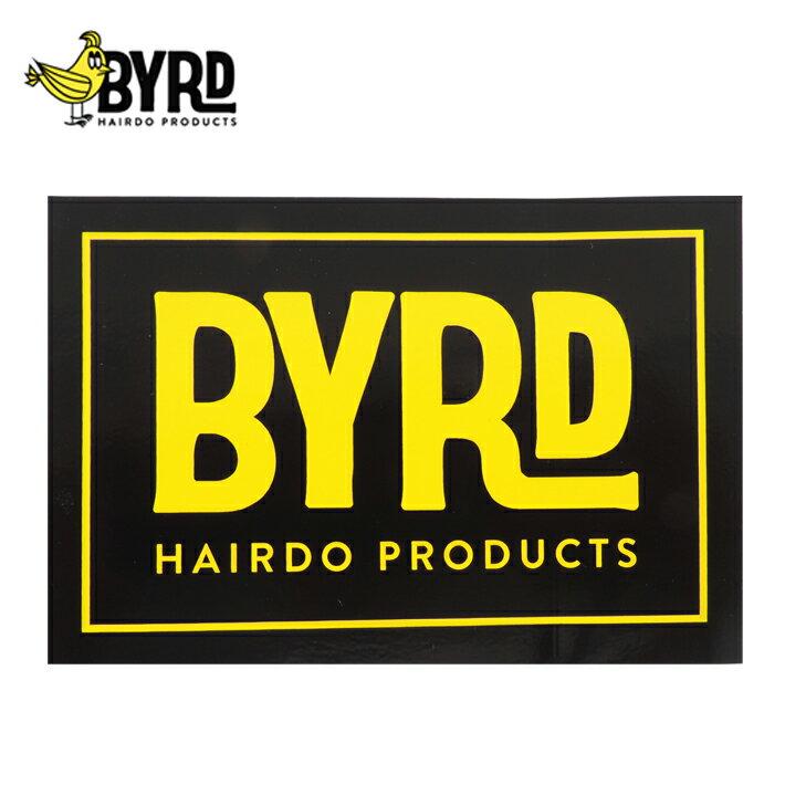 【BYRD バード】HAIRDO ステッカー ロゴ スクエア カリフォルニア・ニューポートビーチ発メール便対応商品※ポスト投函の為、日時指定・代引き不可