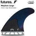サーフィン フィン FUTURES FIN フューチャーフィン RTM/CARBON MAYHEM (L)   Large Thruster マット・バイオロス a.k…