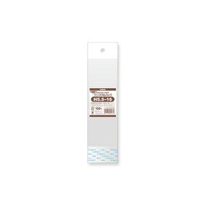 【メール便対応】HEIKO OPP袋 クリスタルパック H5.5-16 (ヘッダー付き) 100枚 厚0.03×幅55×高160+ヘッダー30+テープ30mm/穴径:8mm