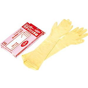 シンガーラテックス手袋 ロング48 Mサイズ 10枚入 左右兼用 ビニール手袋 伸びる フィット 食品加工 調理 清掃 病院 掃除 介護 食品衛生法 食品衛生法適合品