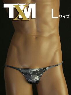 胡枝子没有锋利的丁字裤迷彩 L 大小男性内衣内裤丁字裤