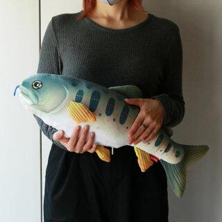 2wayネックピローぬいぐるみ海クッション魚おもしろグッズ釣り好きプレゼント動物リアル特大大きい海の生き物川の生き物クマノミサメヤマメブラックバス父の日旅行グッズFISHCUSHION&PILLOW