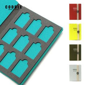 【9枚収納可能】SDカードケース sdケース メモリーカードケース 保管 9枚収納 出張 旅行 持ち運び 日本製 おしゃれ CODDLE コドル +FABRIC SD CARD BOOK