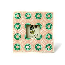 フォトフレーム 正方形 アンティーク ミニフレーム 小さい 木製 おしゃれ 写真立て インテリア雑貨 アジアン レトロ 壁掛け 葉書 ハガキ 卓上 ボーンフレーム 骨 プレゼント ギフト 贈り物 母の日 Goody Grams FIROZPUR