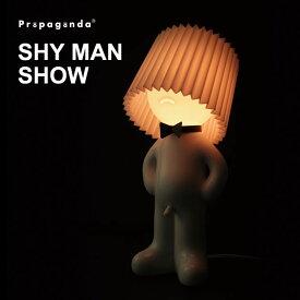 フロアライト ポップ 間接照明 個性的 スタンドライト フロアスタンド ホワイト モダン 白 モノトーン モノクロ フロアランプ ライト インテリア ルームライト ランプ 照明おもしろ雑貨 おもしろグッズ プロパガンダ PROPAGANDA SHY MAN SHOW おしゃれ 送料無料