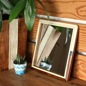 ウォールミラー 玄関 鏡 ミラー 壁掛け 壁付け おしゃれ アンティーク 正方形 角型 角丸 壁掛けミラー 姿見 卓上 玄関鏡 男性 ミッドセンチュリー インテリア 雑貨 レトロ Goody Grams WALL MIRROR S