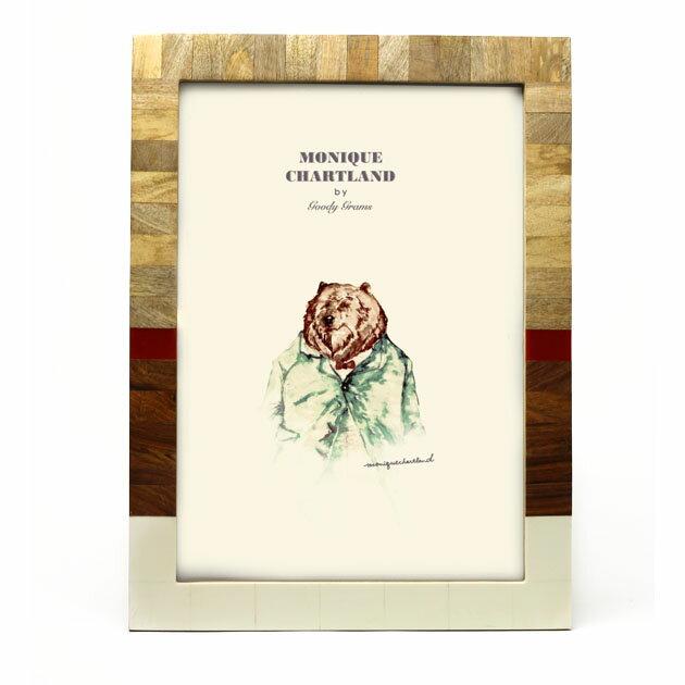 額縁 フォトフレーム 木製 木 A3 大きめ 大きい アンティーク 木製 おしゃれ 母の日 インテリア雑貨 レトロ 写真立て 壁掛け プレゼント ギフト 贈り物 ブランド Goody Grams PHOTO FRAME-OAR K 送料無料
