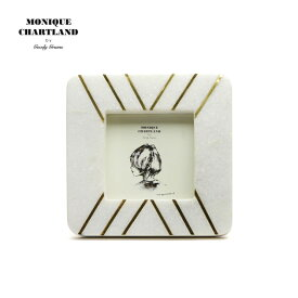 フォトフレーム 真鍮 アンティーク おしゃれ インテリア雑貨 写真立て レトロ 壁掛け 正方形 大理石 卓上 白 ホワイト プレゼント ギフト 結婚祝い 贈り物 母の日 Goody Grams PHOTO FRAME-STONE NALANDA