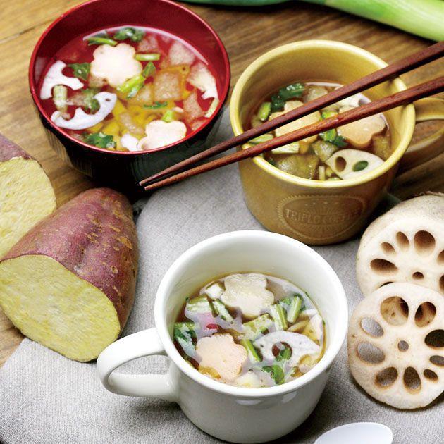 MAM CAFE / MAM KAGA-YASAI 加賀野菜 お吸い物最中 味噌汁 最中 モナカ 国産 インスタントスープ MAMCAFE マムカフェ