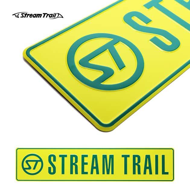ストリームトレイル オリジナルロゴプレート ORIGINAL LOGO PLATE Stream Trail インテリア雑貨 インテリアプレート アメリカン雑貨 ナンバープレート風