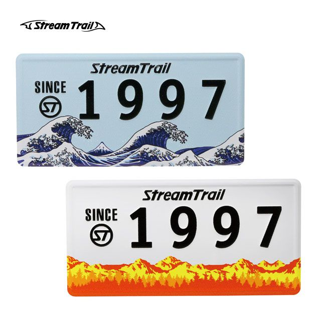 ストリームトレイル オリジナルプレート 海 山 自然 ORIGINAL PLATE 1997 Stream Trail インテリア雑貨 インテリアプレート アメリカン雑貨 ナンバープレート風