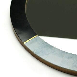 大理石風鏡ミラー卓上壁掛け玄関鏡丸形円形おしゃれウォールミラーGoodyGramsMIRRORBADARINATH