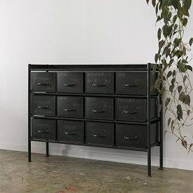 ジャーナルスタンダードファニチャー journal standard Furniture GUIDEL 12DRAWER CHEST WIDE ギデル 12ドロワーチェスト ワイド 幅110cm 鉄製 アイアン 什器 おしゃれ 収納 店舗 ショップ 事務所 アパレル 送料無料