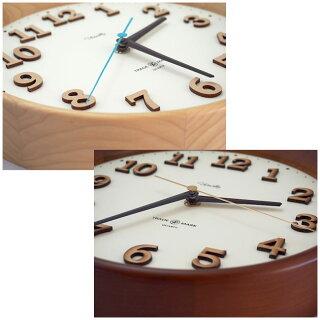 掛け時計おしゃれ送料無料音がしない木製見やすい大きい静音スイープムーブメントナチュラルレトロ日本製OXNARDWallClockオックスナードウォールクロックトラディションアコースティック
