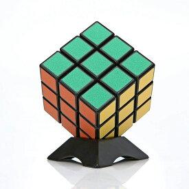 スピードキューブ 競技用 3×3×3 6面 世界基準配色 スムーズ回転 競技専用 ステッカー パズル 回転キューブ スタンド付き ルービックスピードキューブ 立体パズル
