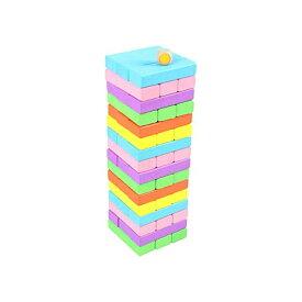 ジェンガ 木製 Jenga 17段 サイコロ付き バランスゲーム テーブルゲーム パーティゲーム 木製 立体パズル 積み木 ブロック ドミノブロック TYLER 無限大の遊び方 大人も子供も楽しめる 6カラー 48PCS 骰子付き
