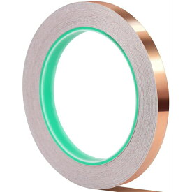 両面導電性銅箔粘着テープ 10mm×20m 導電テープ 銅箔テープ 放電テープ 銅テープ アルミテープチューン 静電気除去 電磁波シールド