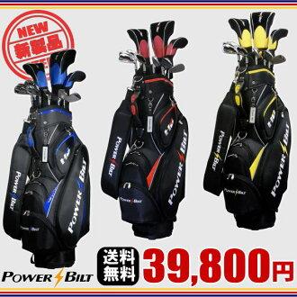 Power belt * HB mens Golf set full golf bag with driver + fairway wood + utility + irons set + putter golf club set: